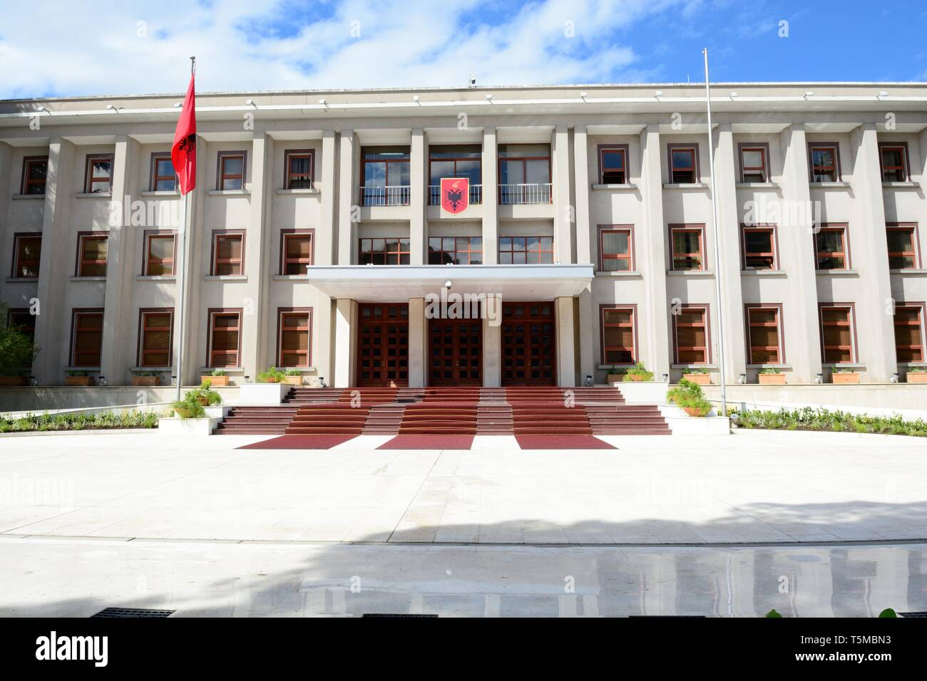 The Presidential Palace of Tirana Albania - Stock Image