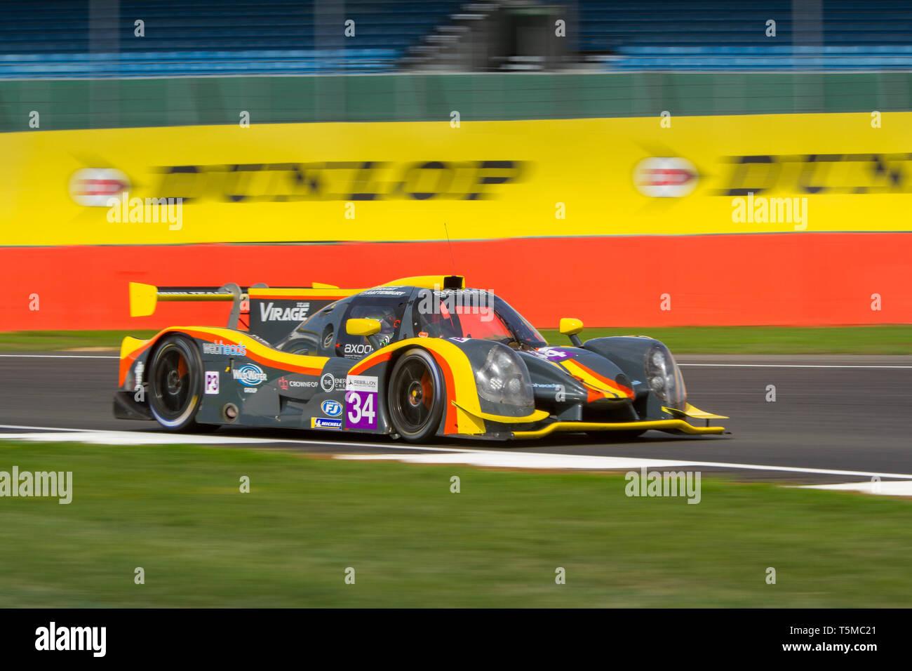 Team Virage Ligier JSP3 LMP3 car during the ELMS 4 Hours of Silverstone, 2018 Stock Photo