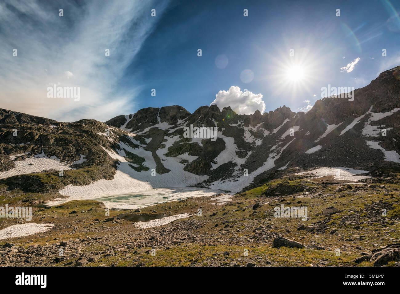 Tundra landscape in Colorado - Stock Image