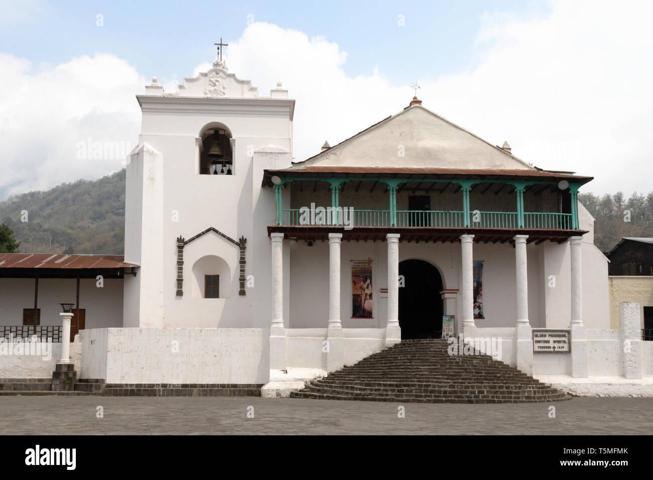 Saint James the Apostle church, Santiago Atitlan, Guatemala, Central America - Stock Image