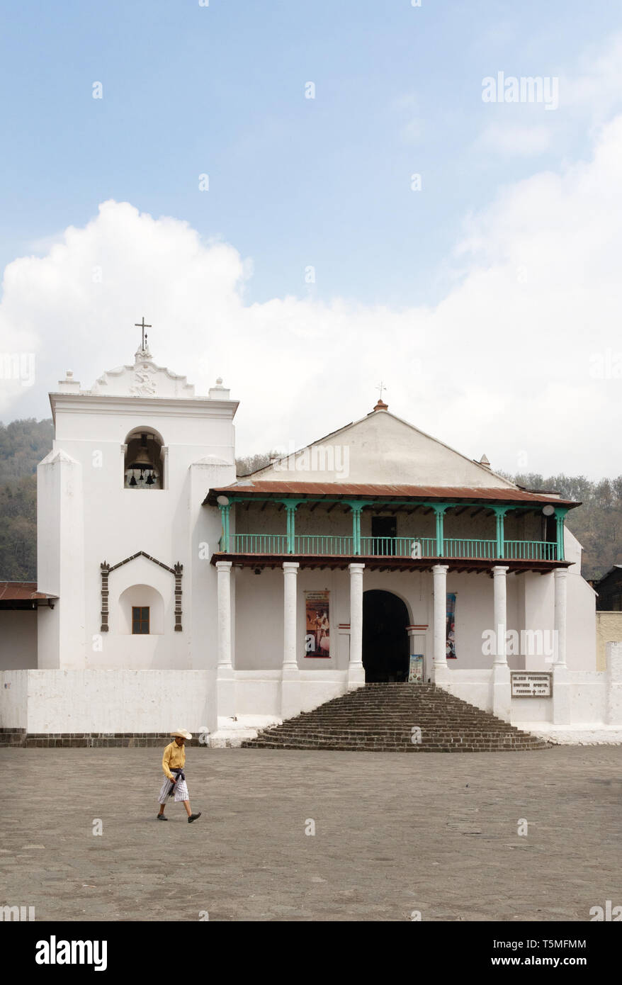 St James the Apostle church, Santiago Atitlan, Guatemala, Central America - Stock Image