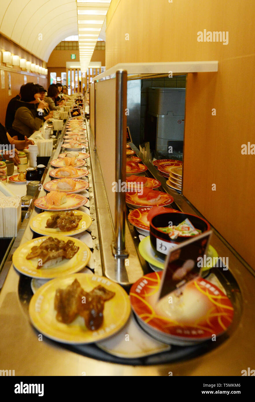 Sushi Train High Resolution Stock Photography And Images Alamy You can pay for the order. https www alamy com traditional revolving sushi restaurant in osaka japan image244472934 html