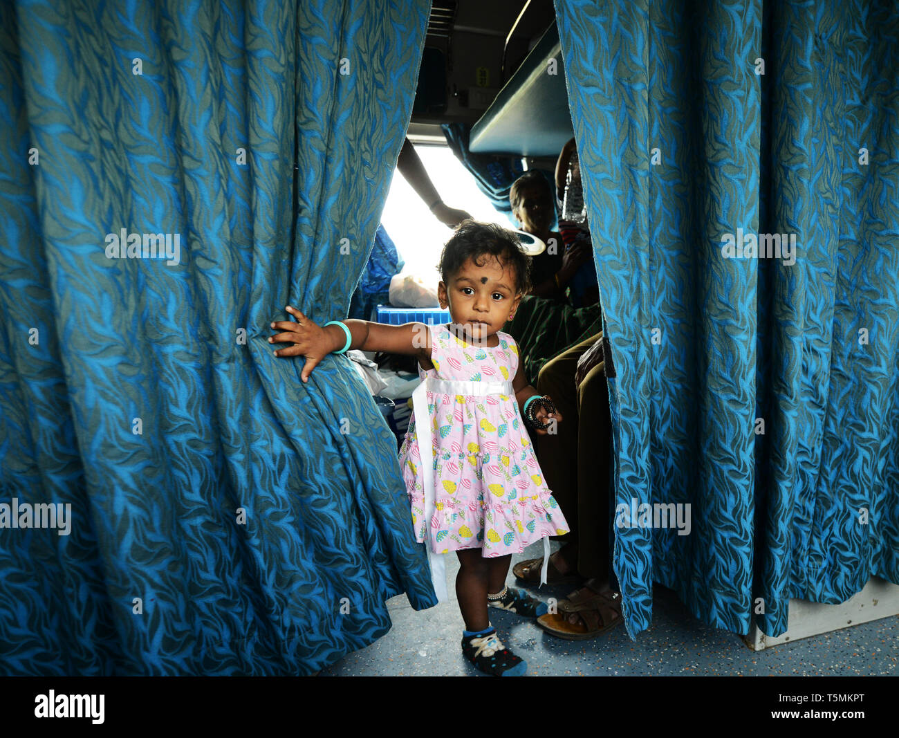 Girl On Indian Train Stock Photos & Girl On Indian Train