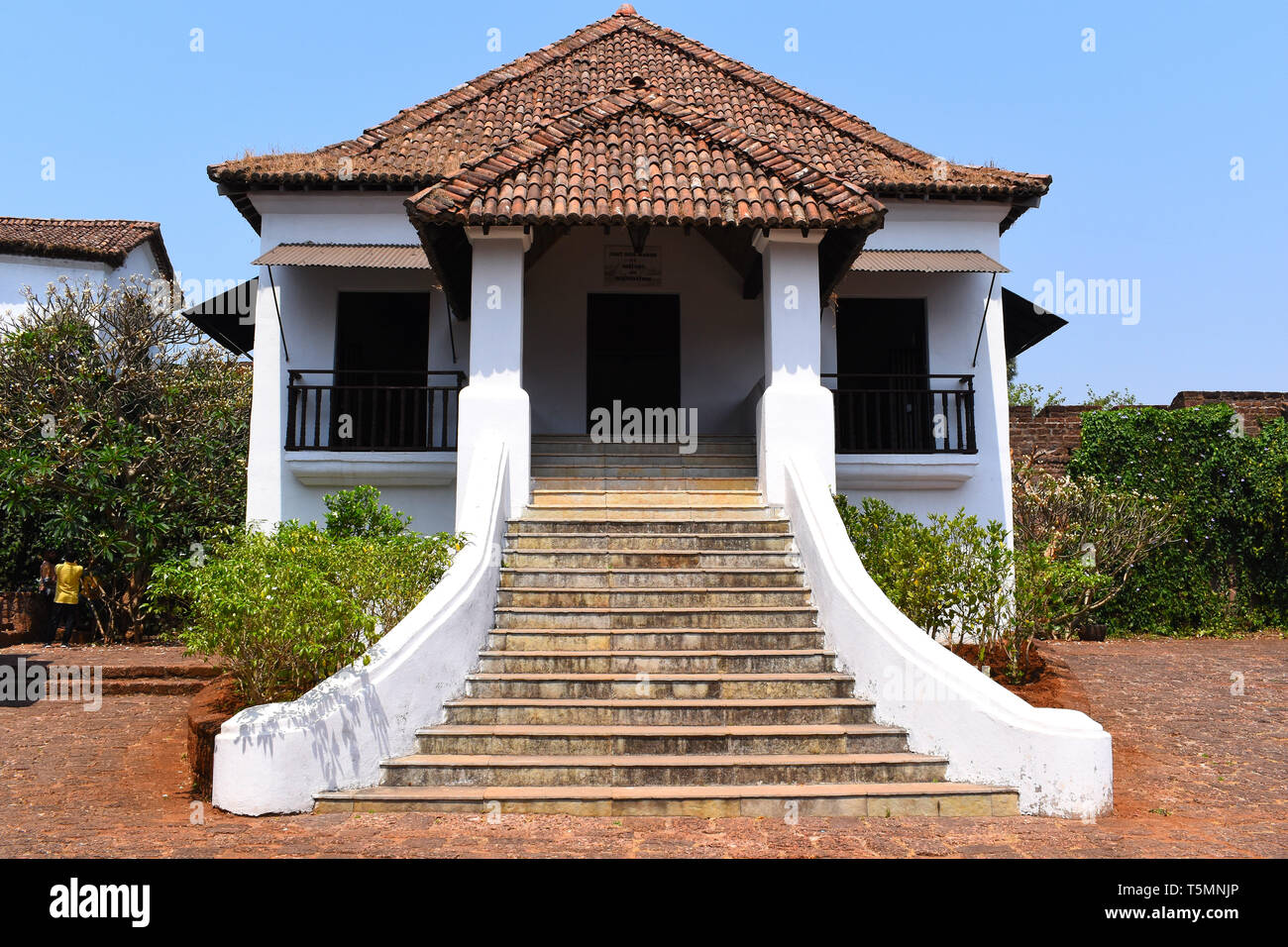 A building inside the Reis Magos Fort, Goa, India. - Stock Image