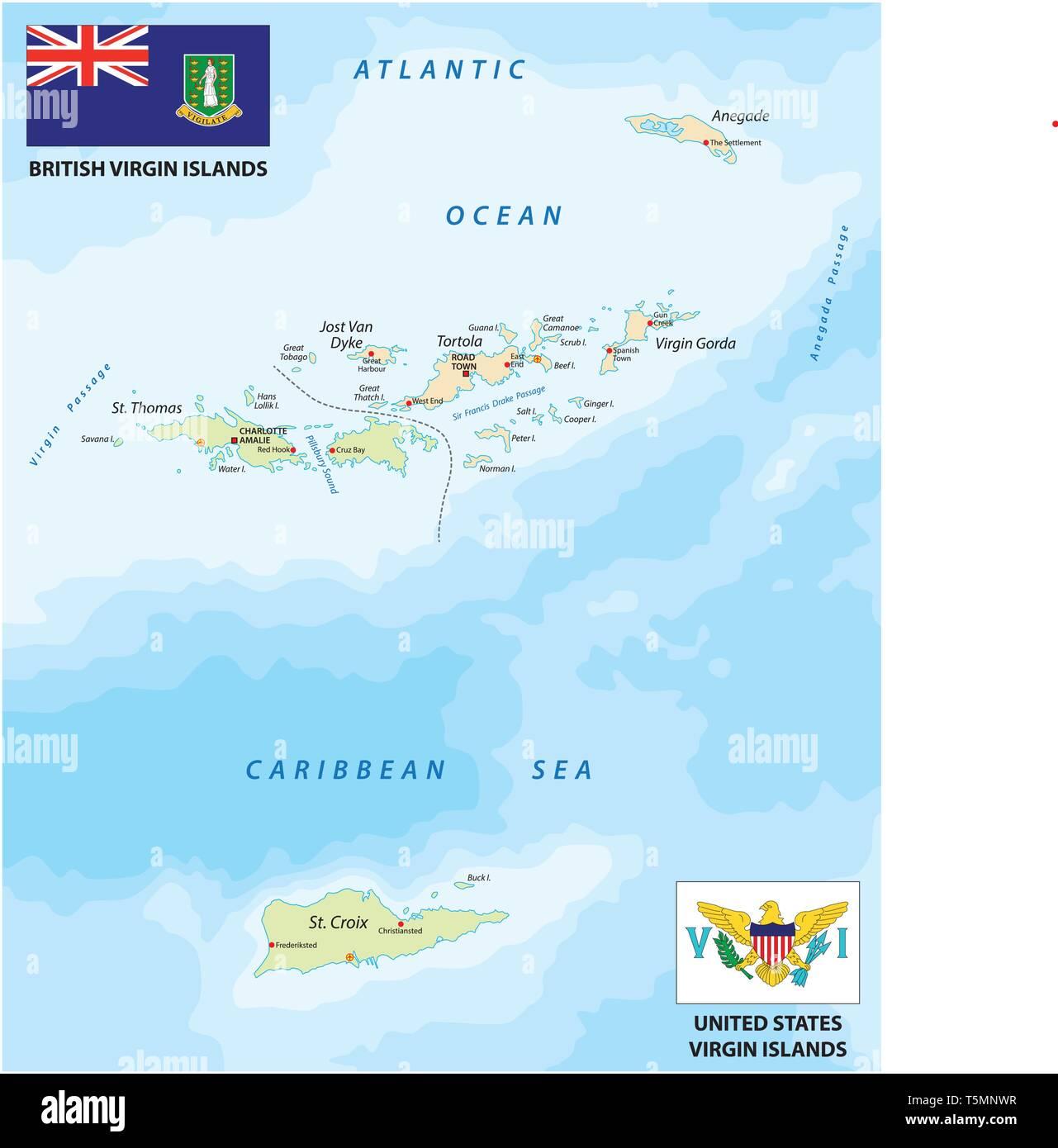 Caribbean Islands Map Stock Photos & Caribbean Islands Map ...