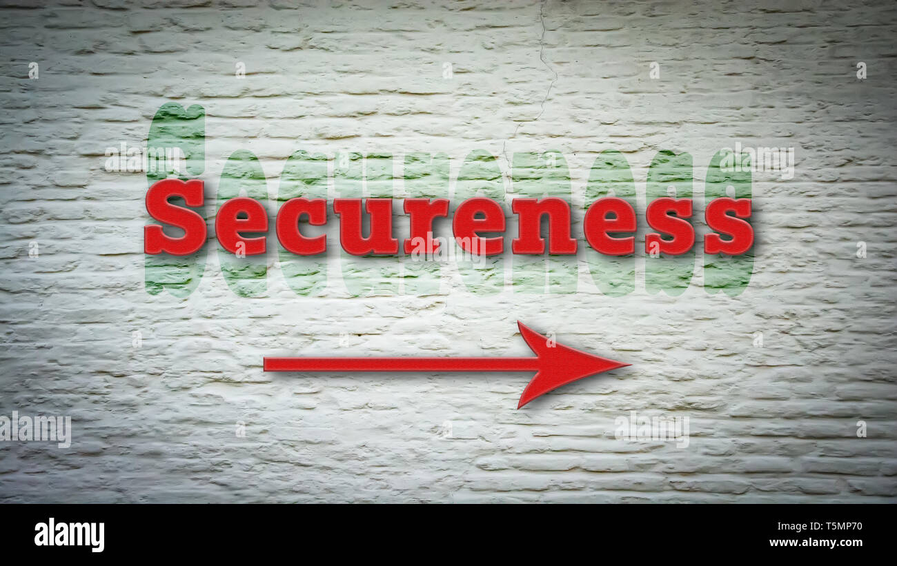 Street Sign to Secureness - Stock Image