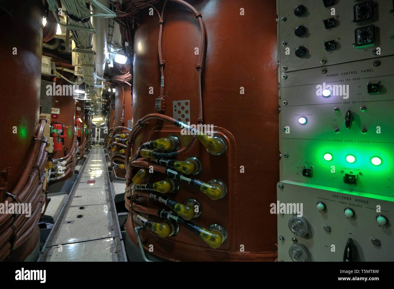 The missile silo room on the nuclear-powered fleet ballistic missile  submarine USS Ohio (SSBN-726/SSGN-726). - Stock Image