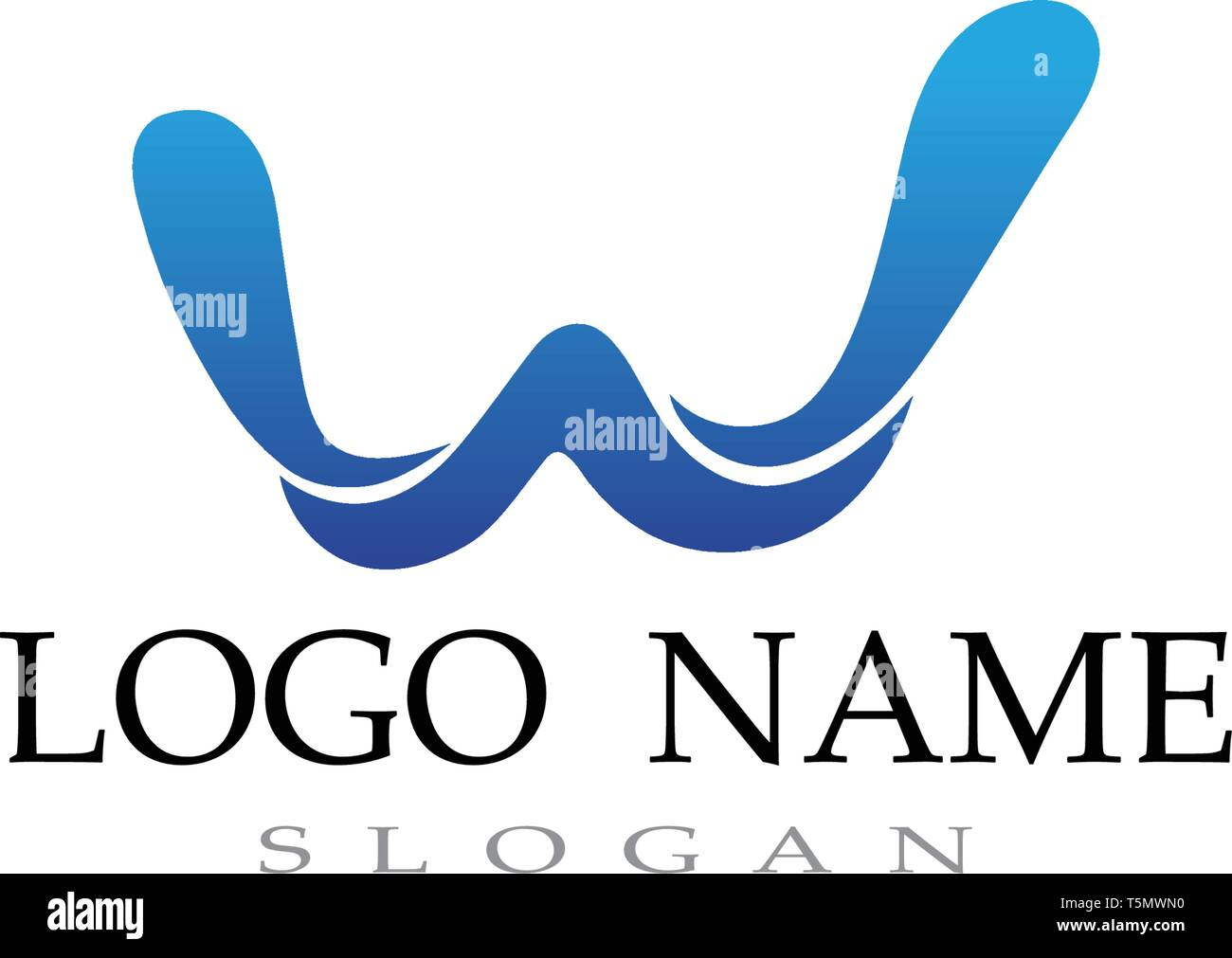 W logo and symbol business vector - Stock Image