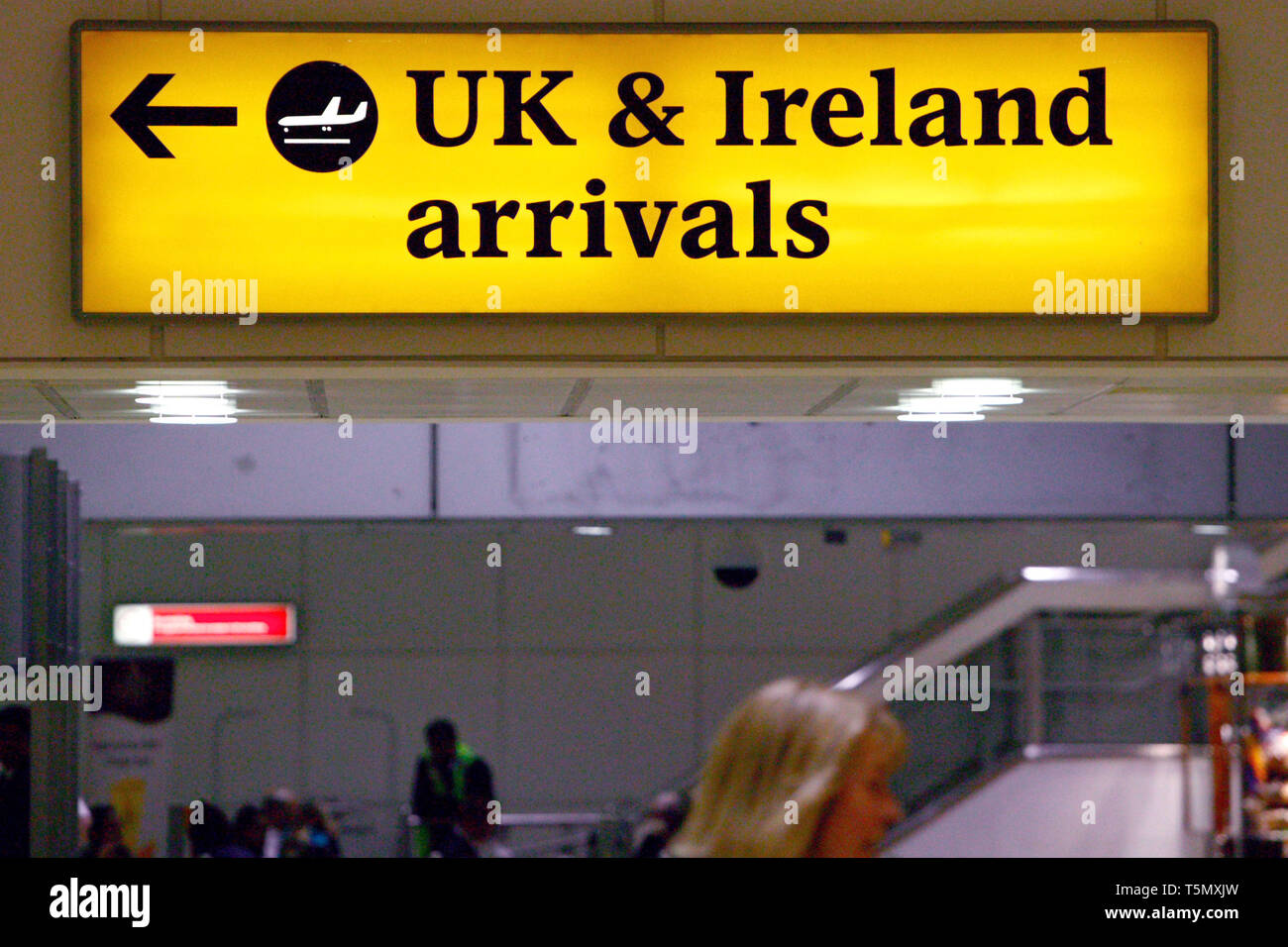 Arrivals at London Heathrow Terminal One. 16.05.2009. - Stock Image