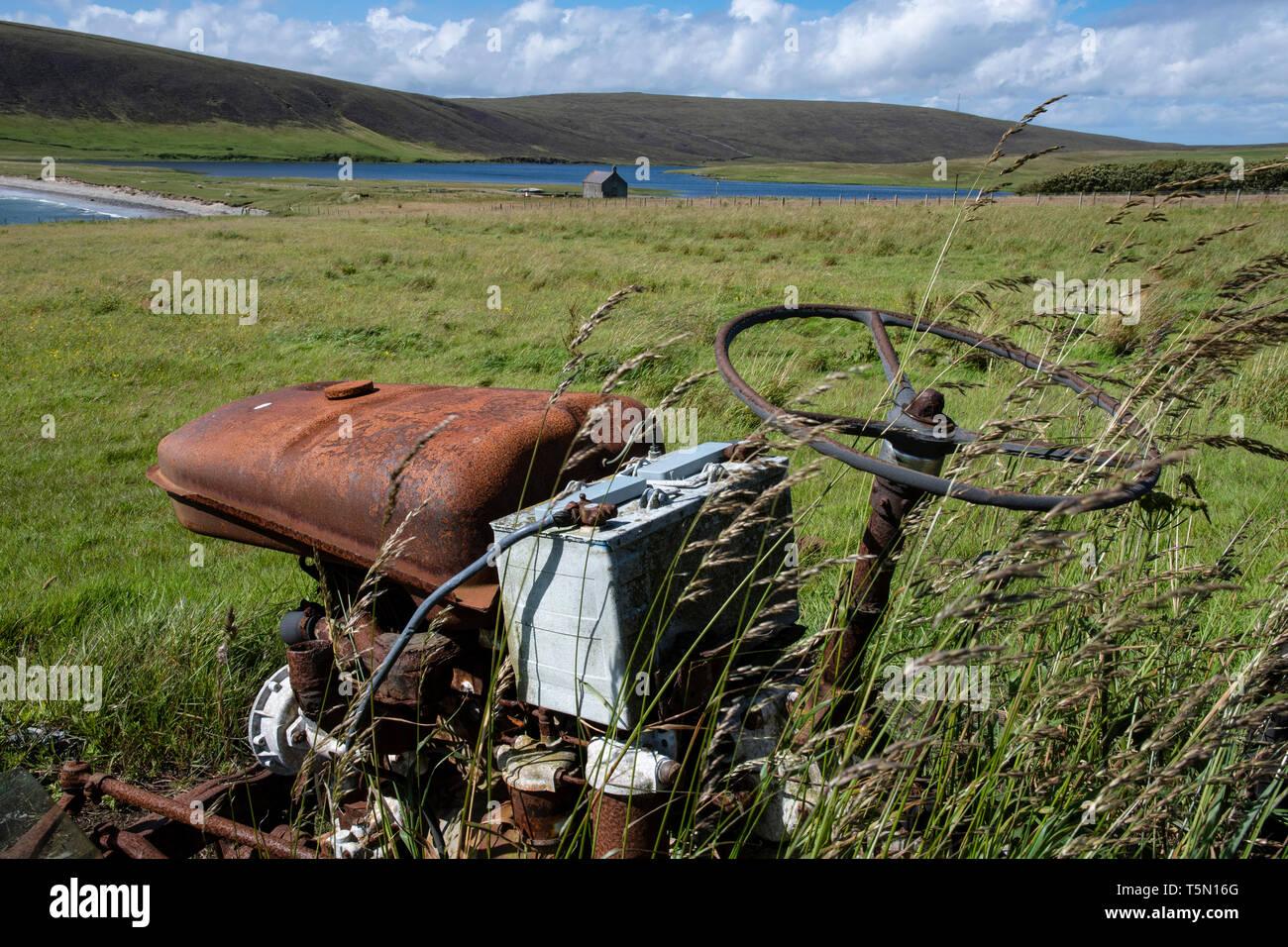 Vasatter, Yell, Shetland - Stock Image
