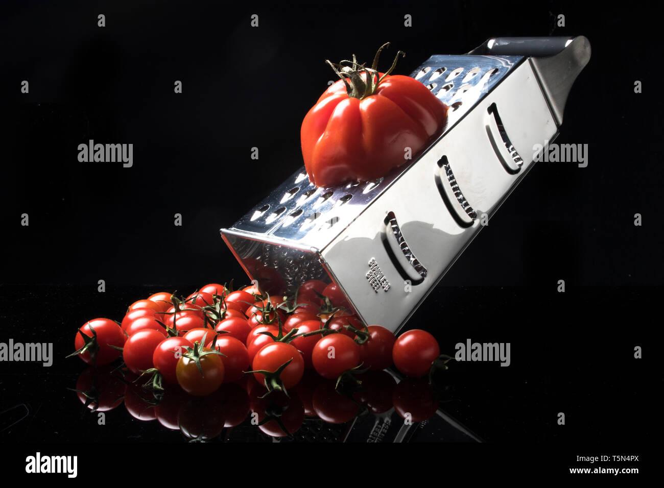 Tomato producing tomato - Stock Image