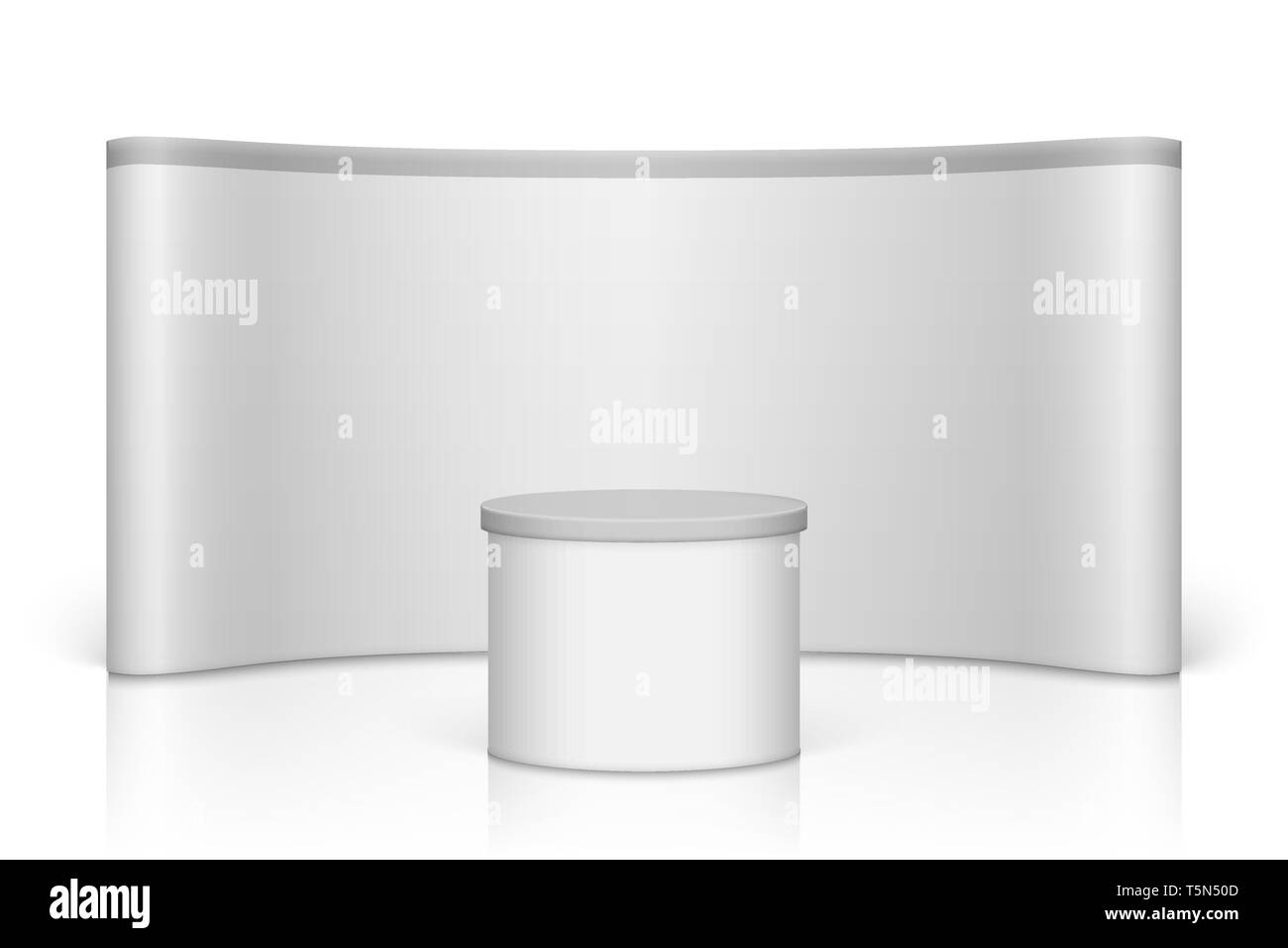 Exhibition Booth Blank : White blank trade show booth round exhibition stand stock vector