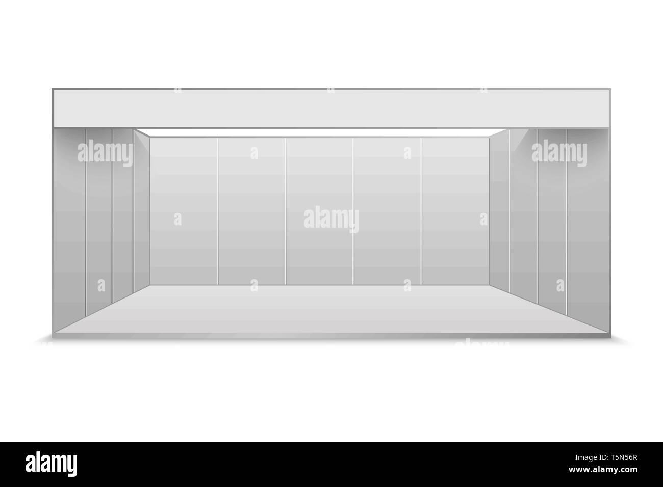 Exhibition Stand Design Presentation : White blank exhibition stand presentation event room stock vector