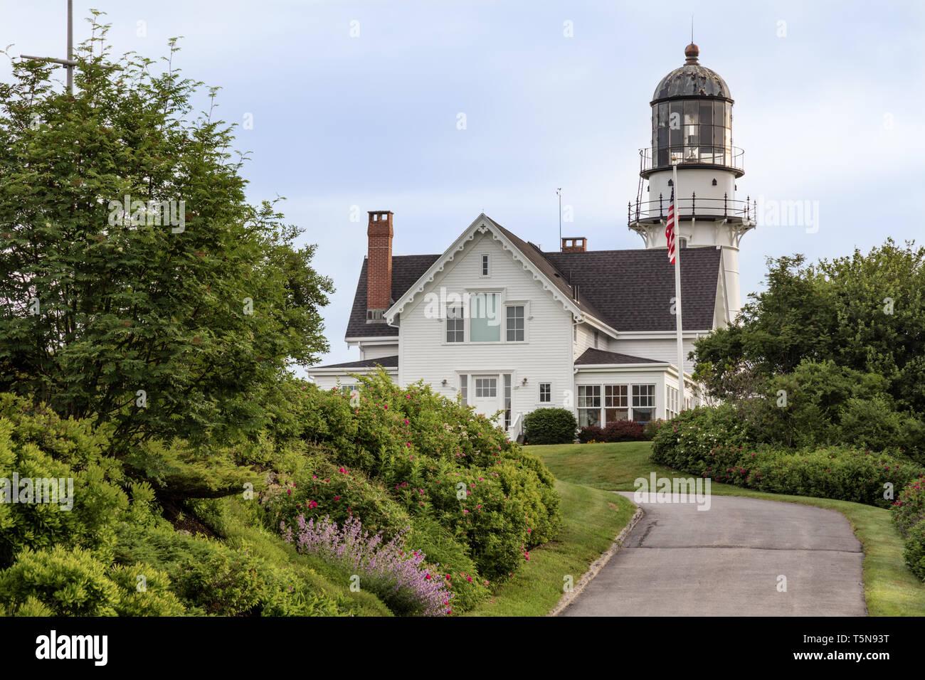 Cape Elizabeth Lighthouse, Cape Elizabeth, Maine - Stock Image
