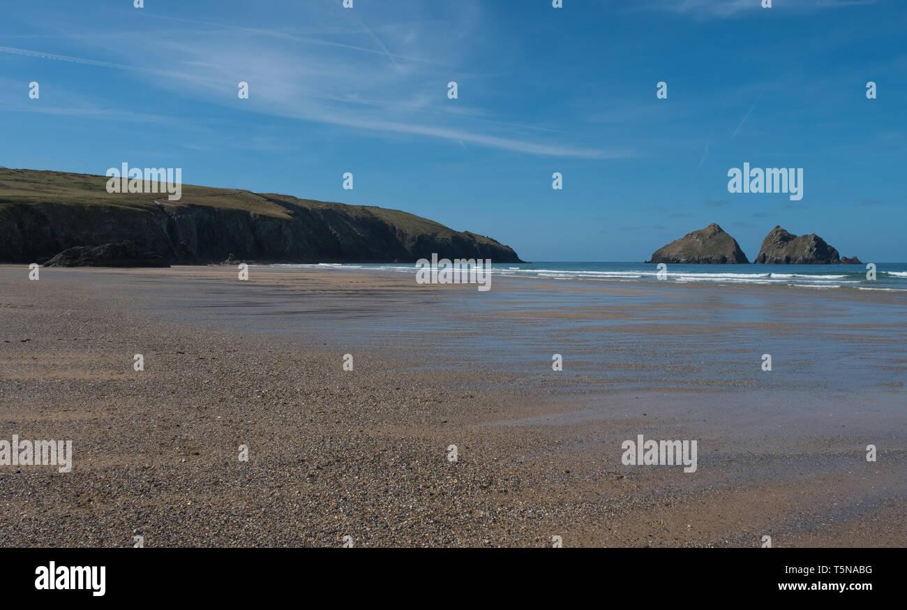 Holywell Bay, Cornwall, England - Stock Image
