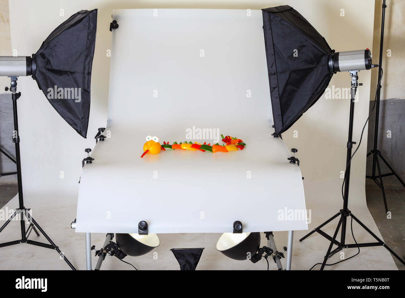 Photo table for product photography in a studio - Stock Image