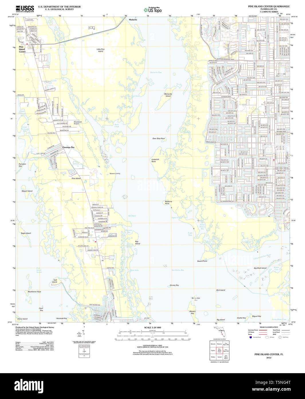 USGS TOPO Map Florida FL Pine Island Center 20120712 TM ...