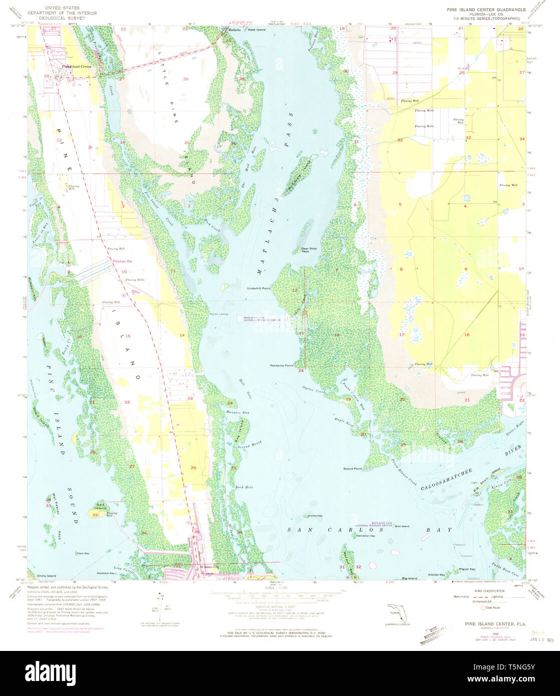 USGS TOPO Map Florida FL Pine Island Center 348110 1958 ...