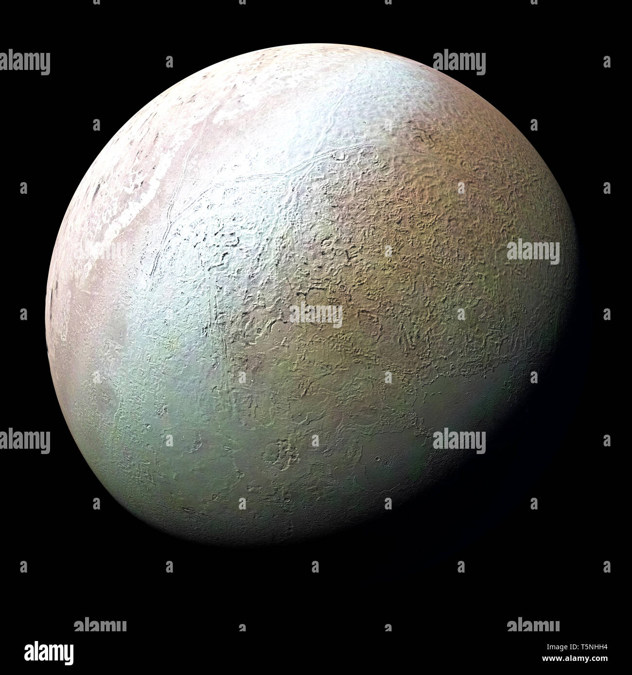 Montage of Planet Neptune and its Moon New 5x7 Space Photo Tritan
