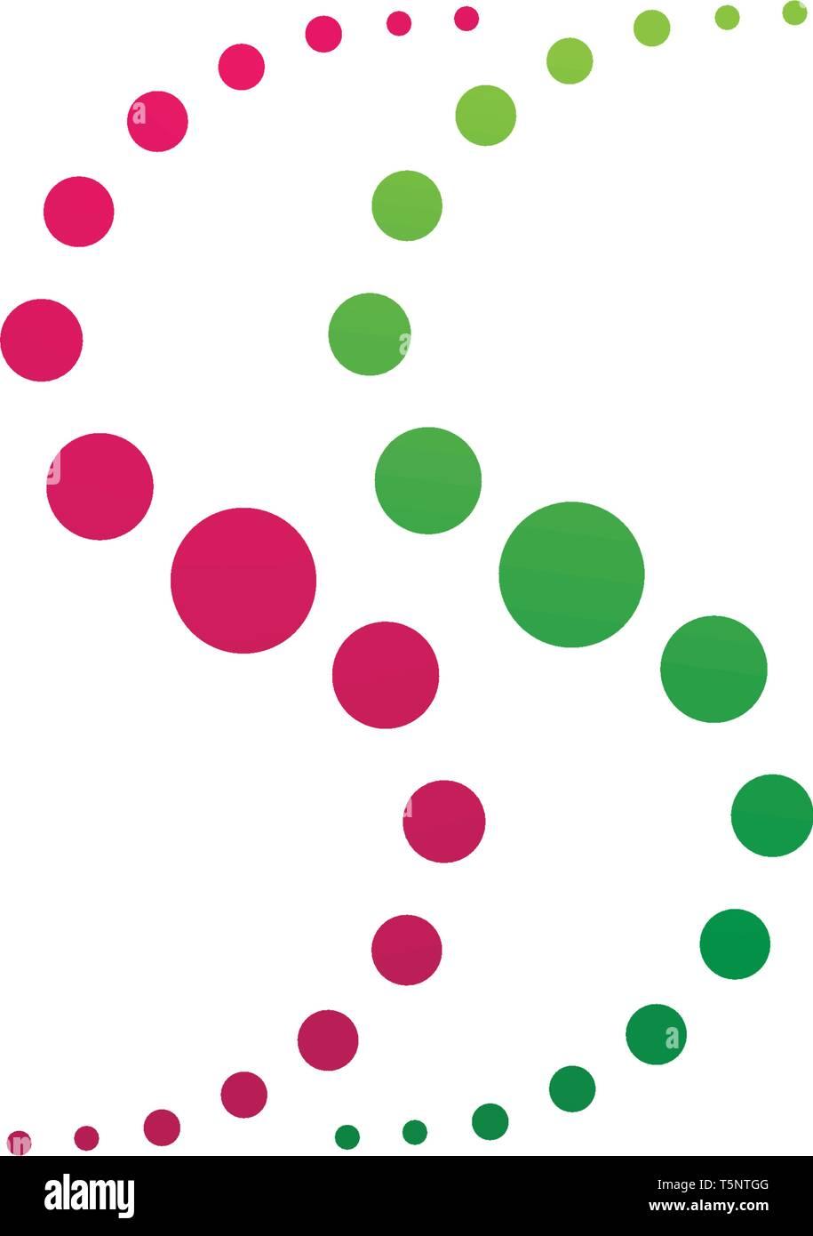 vortex circle logo and symbols template icons - Stock Vector