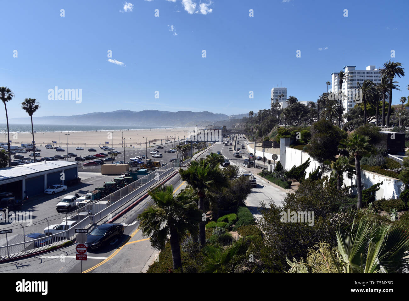 The beautiful iconic Pacific Coast Highway in Santa Monica - Stock Image