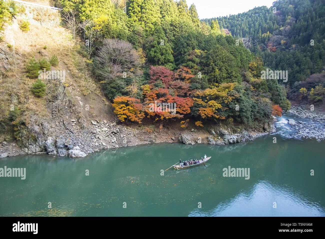 Hozu canyon - Stock Image