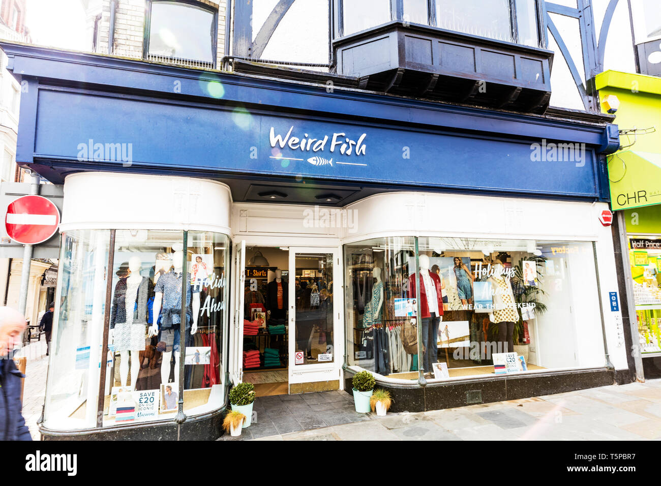 Weird Fish clothing, Whitby Yorkshire UK England, Weird Fish shop, Weird Fish store, Weird Fish sign, Weird Fish clothes shop, Weird Fish, shop, store - Stock Image