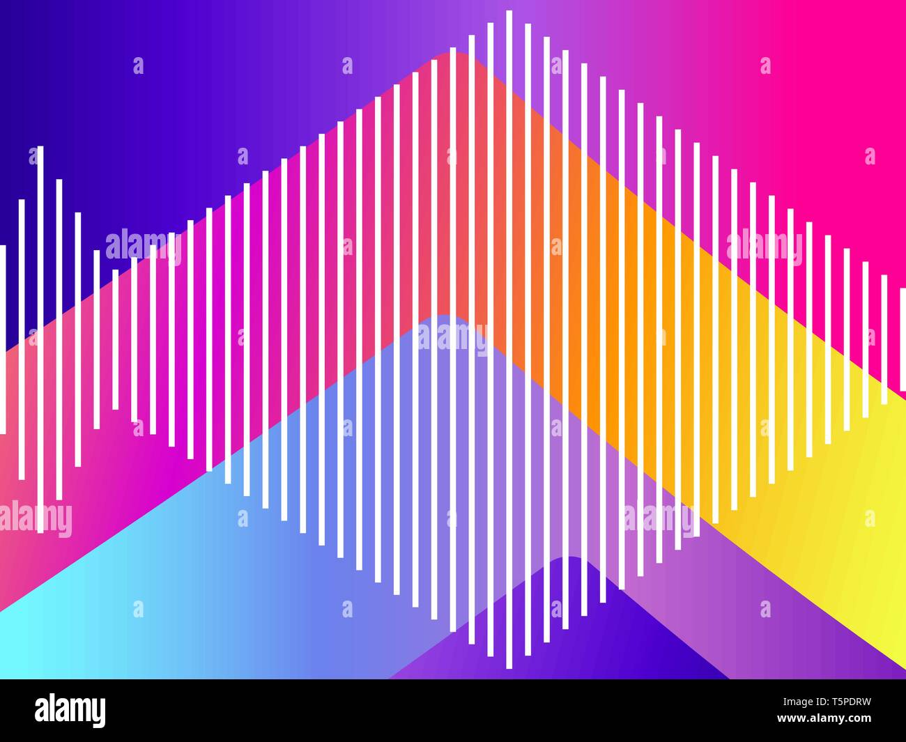 Abstract colorful gradient background  Modern trend synthwave style