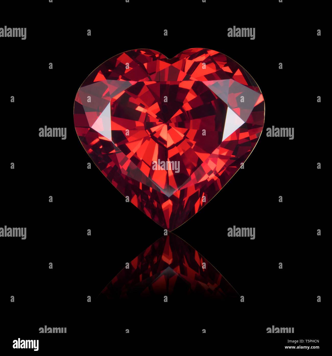 Garnet, ruby, Heart shape, heart shape cut, heart cut