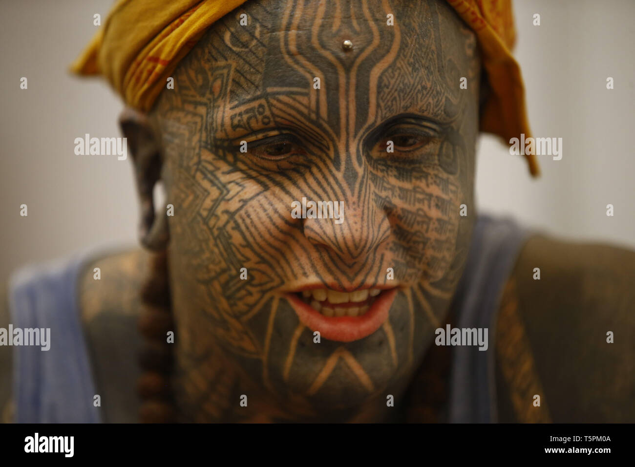 153fb849a Tattoo Convention Face Stock Photos & Tattoo Convention Face Stock ...