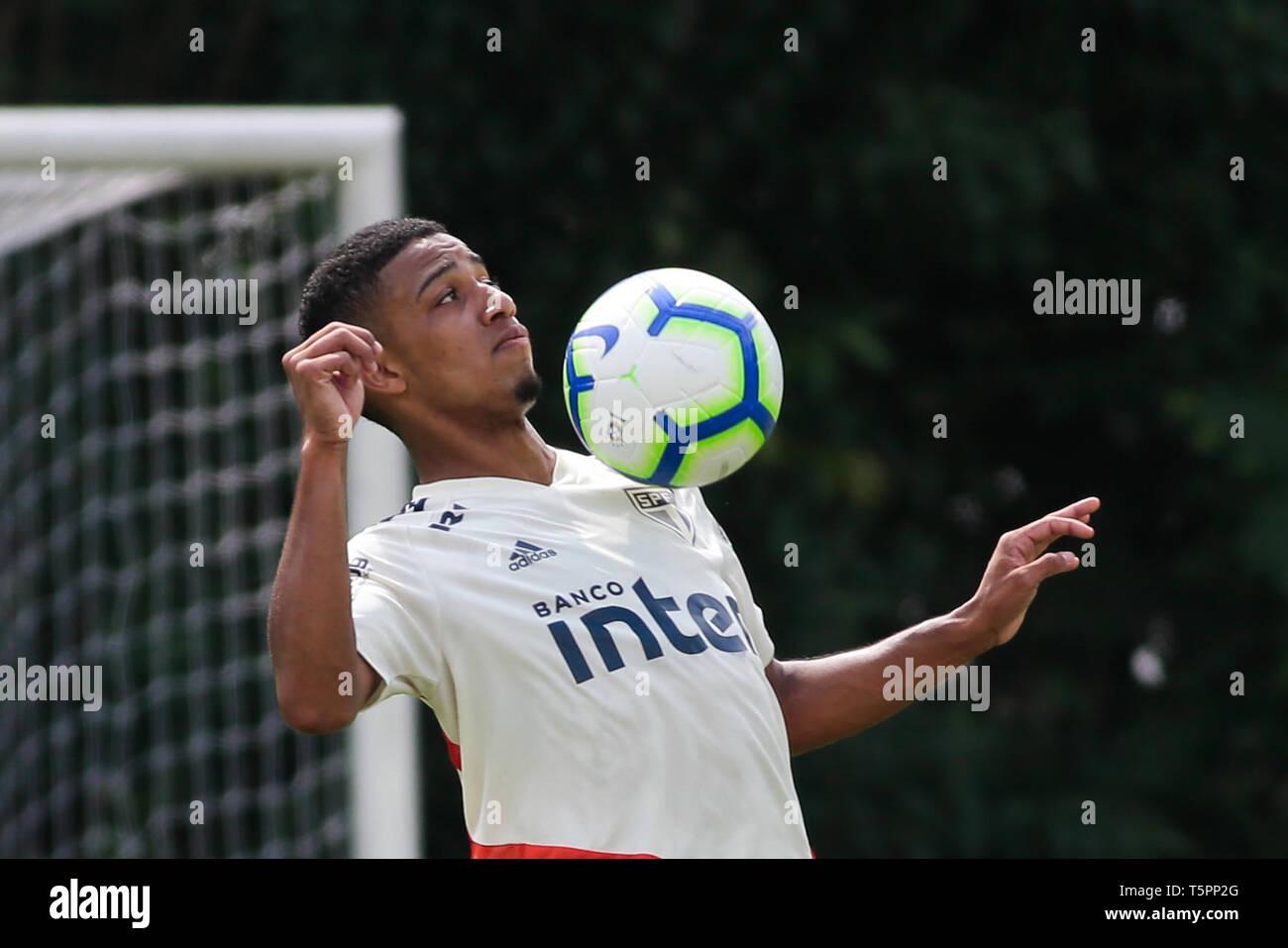 SP - Sao Paulo - 04/26/2019 - Training of Sao Paulo - Brenner during training of Sao Paulo at CT Barra Funda. Photo: Marcello Zambrana / AGIF Stock Photo