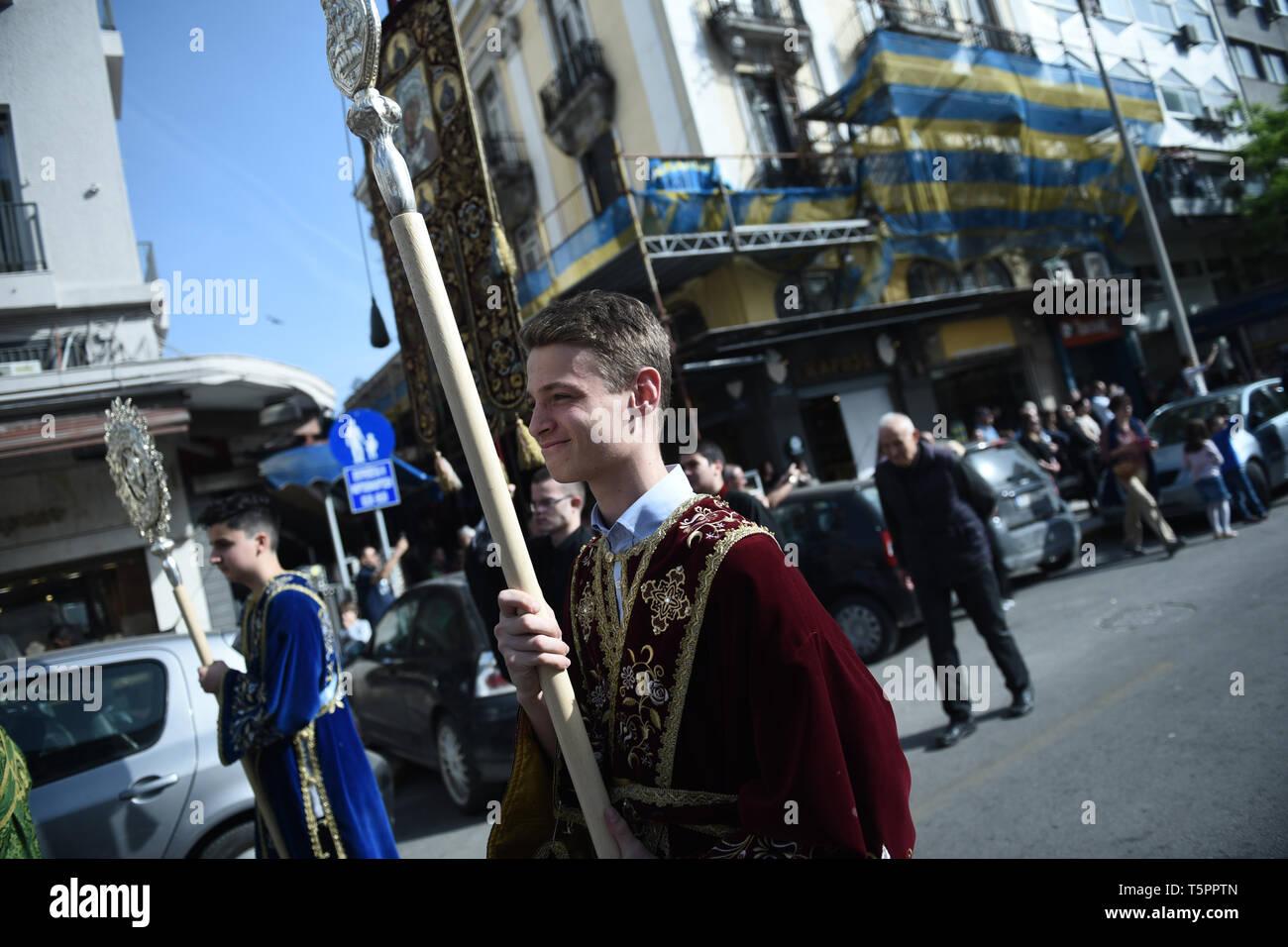 Thessaloniki, Greece  26th Apr, 2019  A Greek Orthodox