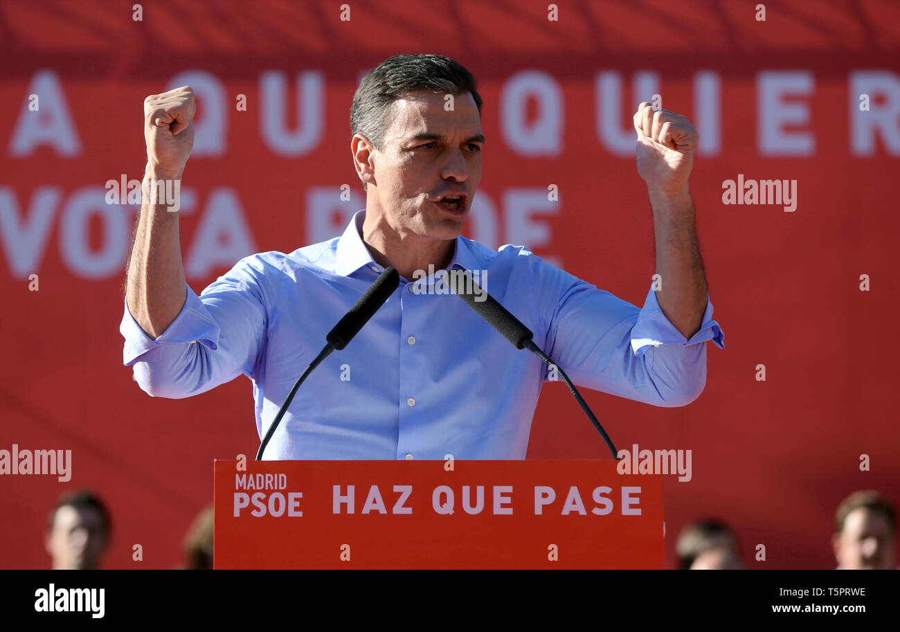 Madrid, Spain  26th Apr, 2019  Spanish Prime Minister Pedro
