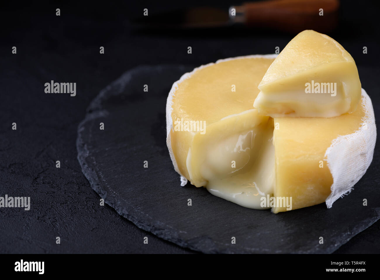 Butter soft creamy cheese - Stock Image
