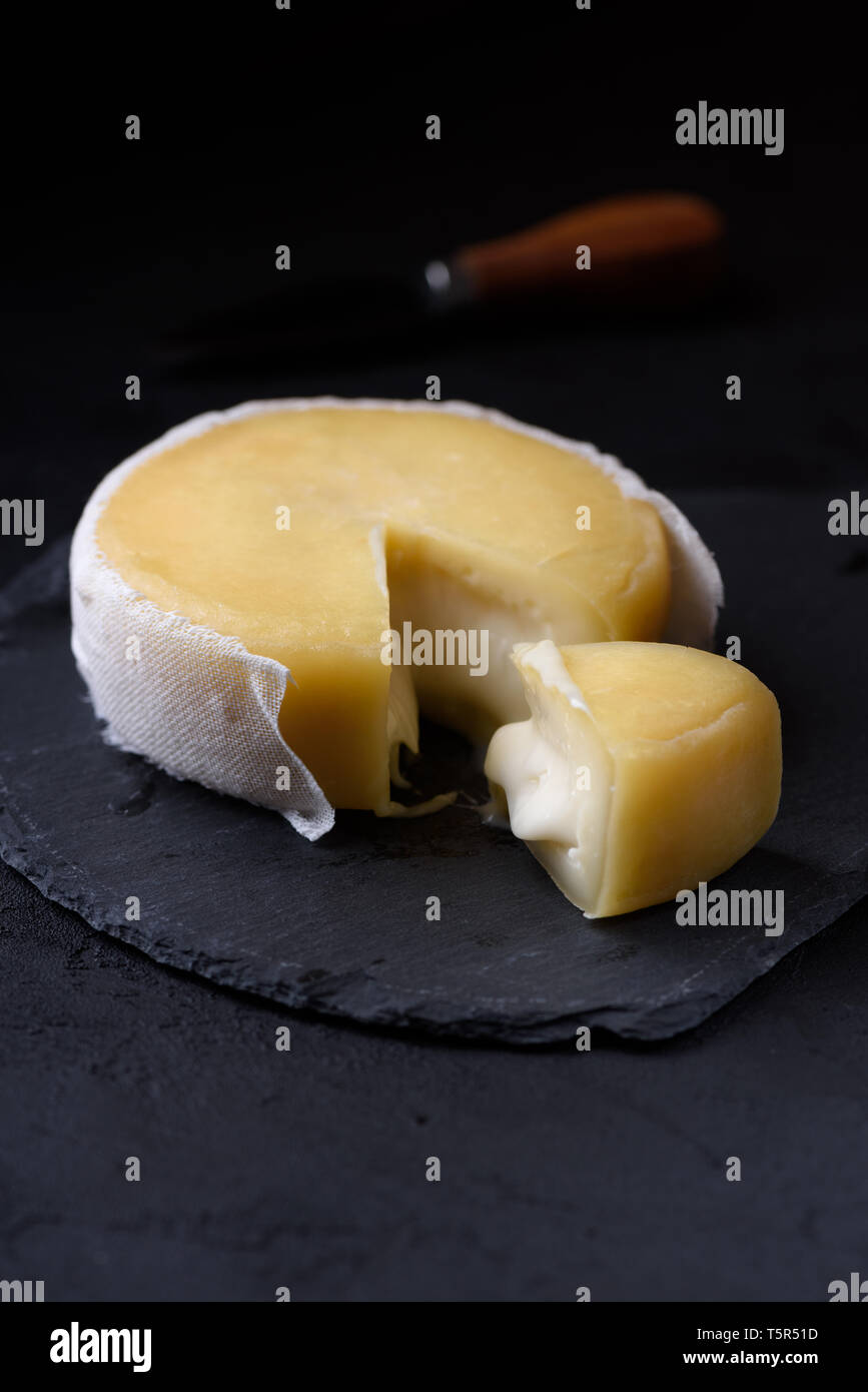 Butter soft creamy sheep cheese - Stock Image