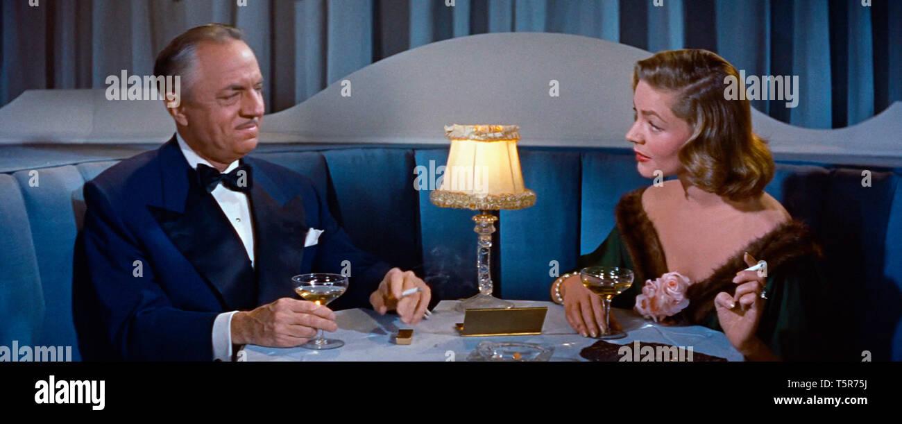 COMMENT EPOUSER UN MILLIONNAIRE HOW TO MARRY A MILLIONAIRE 1953 de Jean Negulesco William Powell Lauren Bacall. coupe de champagne; glass of champagne Stock Photo