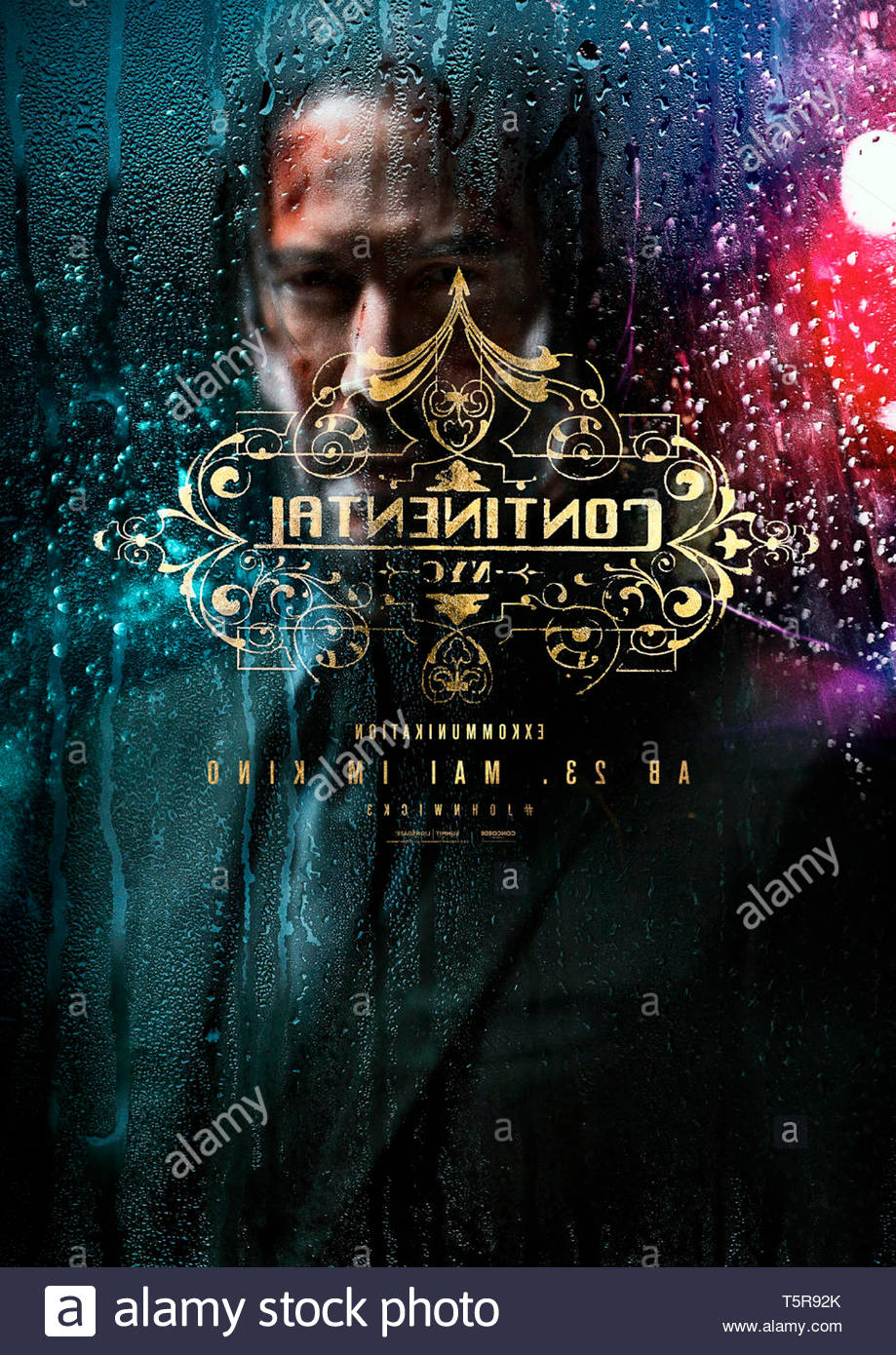 JOHN WICK PARABELLUM JOHN WICK: CHAPTER 3 - PARABELLUM 2019 de Chad Stahelski teaser allemand Keanu Reeves. action; suite; sequel; sequelle d'apres le - Stock Image