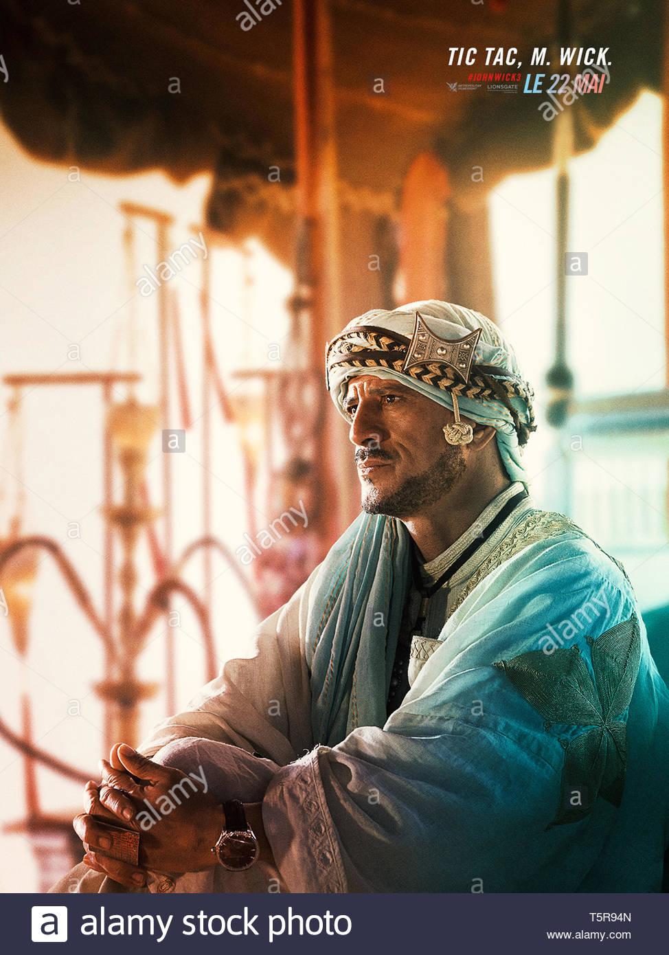 JOHN WICK PARABELLUM JOHN WICK: CHAPTER 3 - PARABELLUM 2019 de Chad Stahelski teaser français Said Taghmaoui. action; suite; sequel; sequelle d'apres - Stock Image