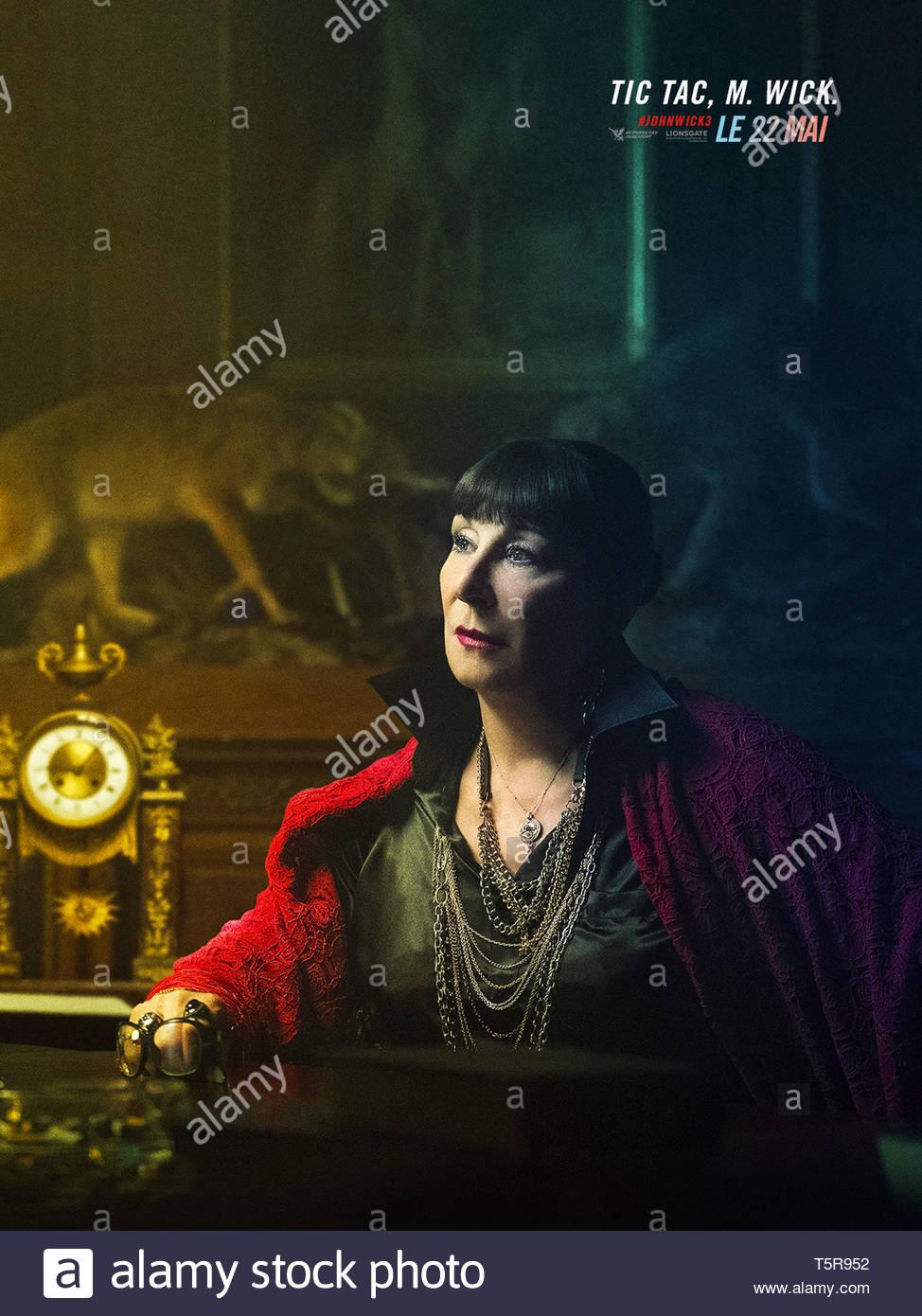 JOHN WICK PARABELLUM JOHN WICK: CHAPTER 3 - PARABELLUM 2019 de Chad Stahelski teaser français Anjelica Huston. action; suite; sequel; sequelle d'apres - Stock Image