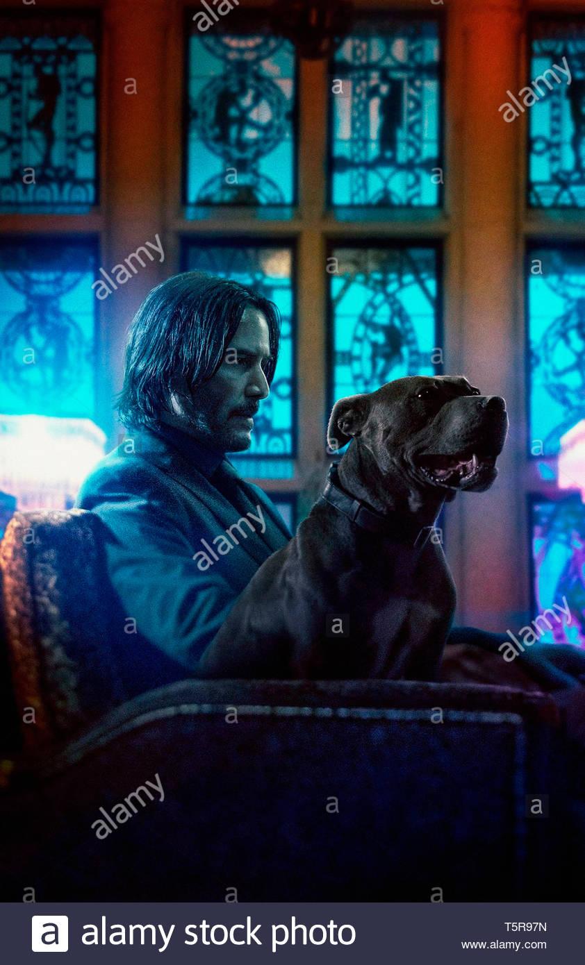 JOHN WICK PARABELLUM JOHN WICK: CHAPTER 3 - PARABELLUM 2019 de Chad Stahelski Keanu Reeves. action; suite; sequel; sequelle d'apres les personnages cr - Stock Image