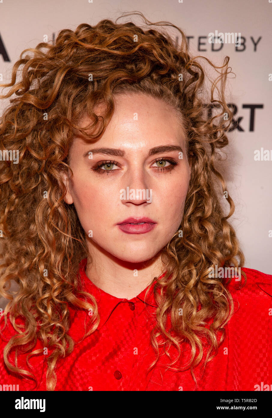 """New York, NY - April 25, 2019: Kat Cunning attends the """"Mystify: Michael Hutchence"""" screenign during the 2019 Tribeca Film Festival at SVA Theater - Stock Image"""