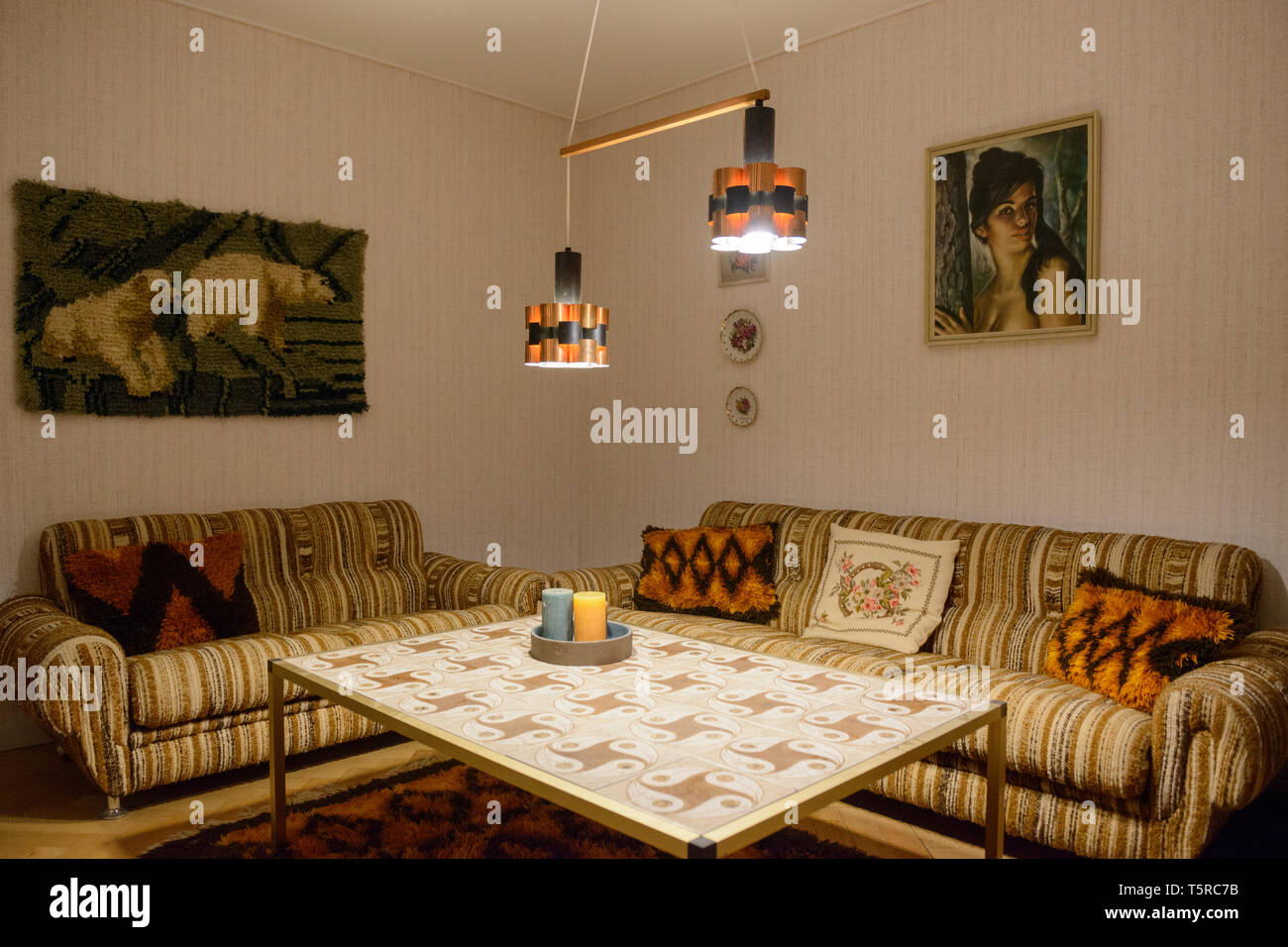 1970s Living Room High Resolution Stock Photography And Images Alamy