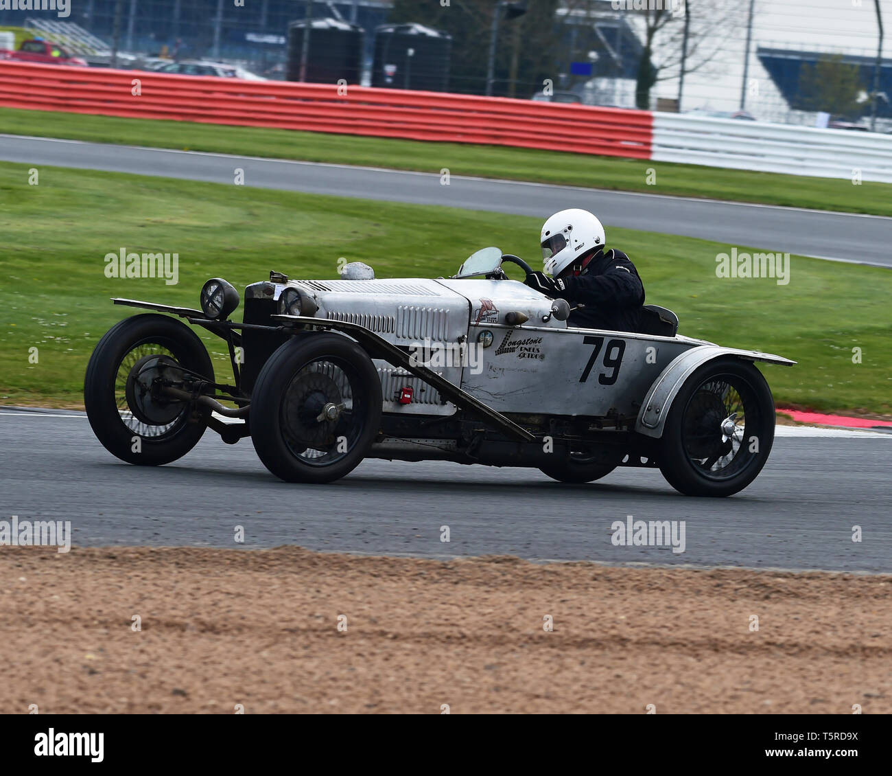 Doug Cawley, GN Ford Piglet, GP Italia and Lanchester Trophies Race, Vintage Racing Cars, VSCC, Formula Vintage, Silverstone, Northamptonshire, Englan - Stock Image