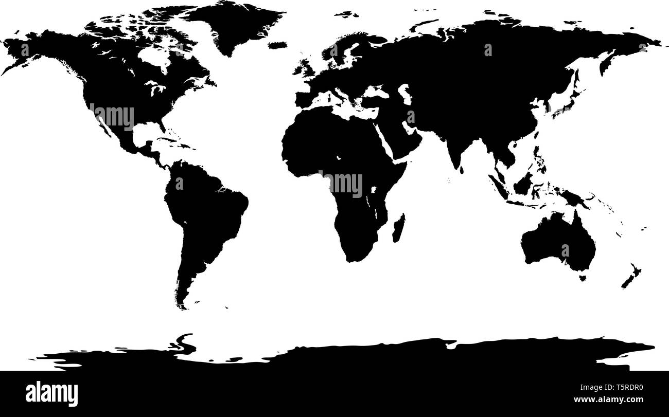 Black world map background. Worldmap stencil on white ...