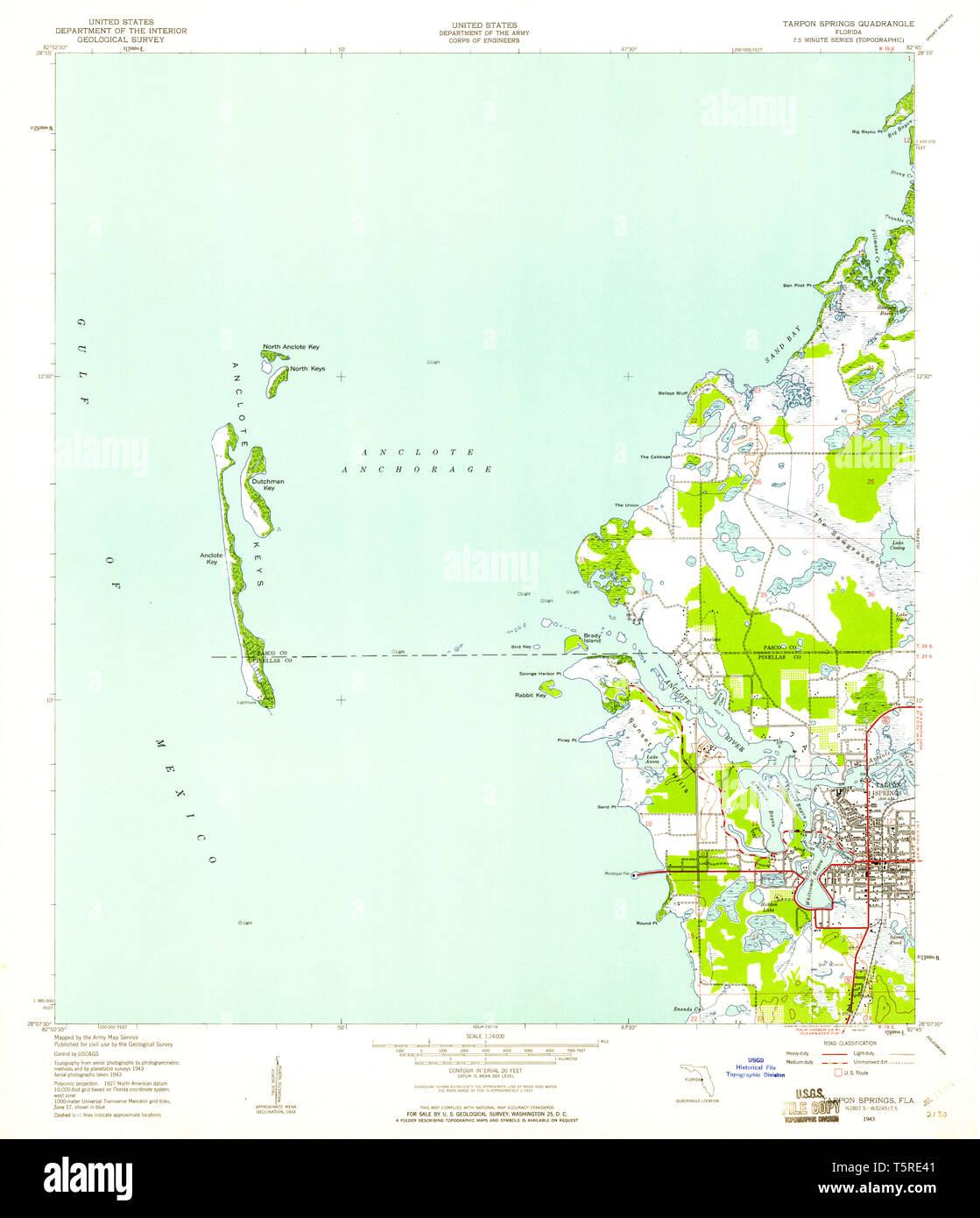 USGS TOPO Map Florida FL Tarpon Springs 348795 1943 24000 ... Map Of Tarpon Springs Fl on map of waterford mi, map of fenton mi, map of harrison township mi, map of kalamazoo mi, sunset tarpon springs fl, hospitals tarpon springs fl, map tampa fl, map florida fl, map of saratoga springs ny, map of new york counties, howard beach tarpon springs fl, map of downtown tarpon springs, santorini restaurant tarpon springs fl, map of longview tx, craig park tarpon springs fl, map of colorado springs, map of palm springs ca, map of florida,