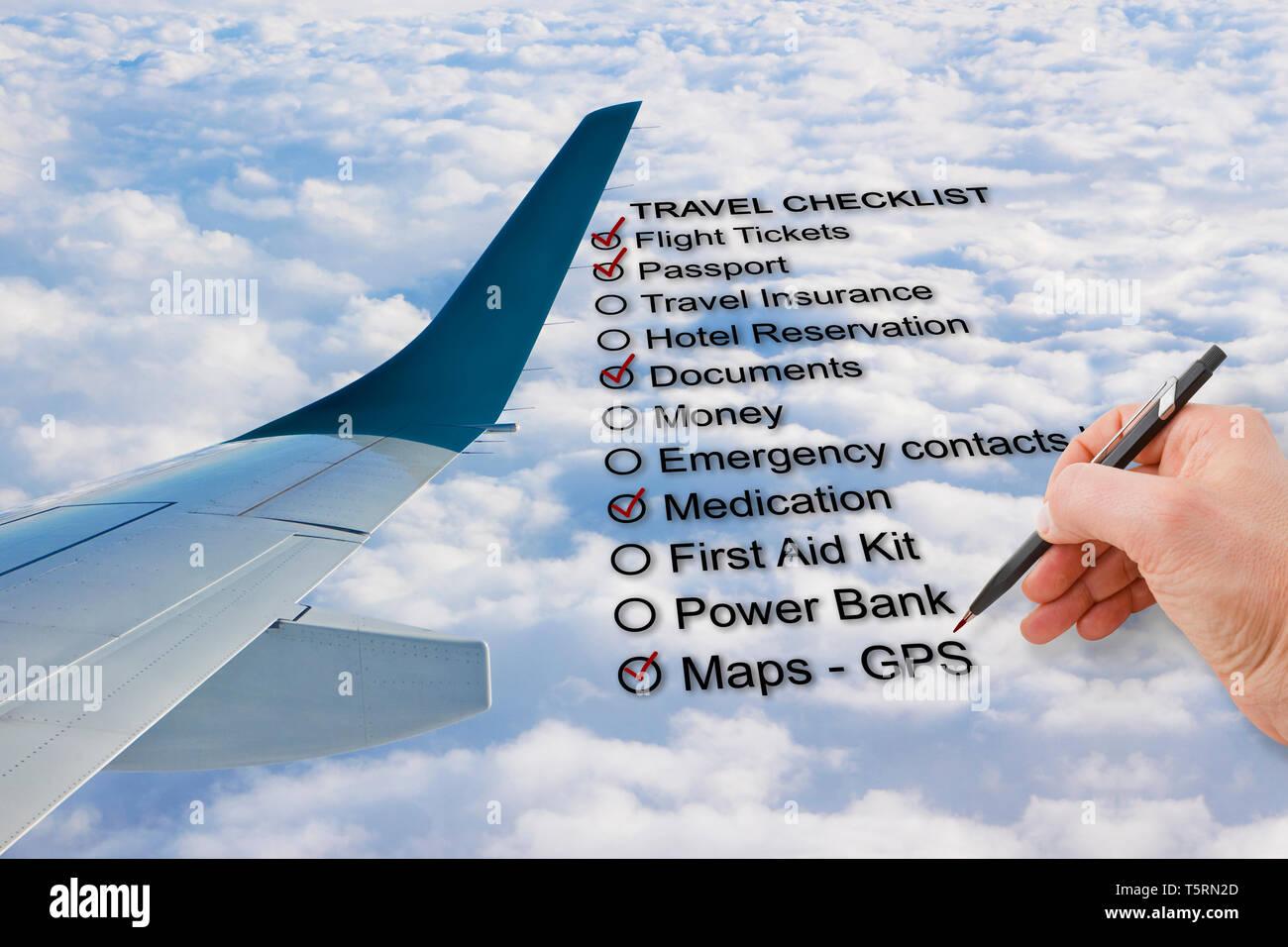 Checklist Airplane Stock Photos & Checklist Airplane Stock Images