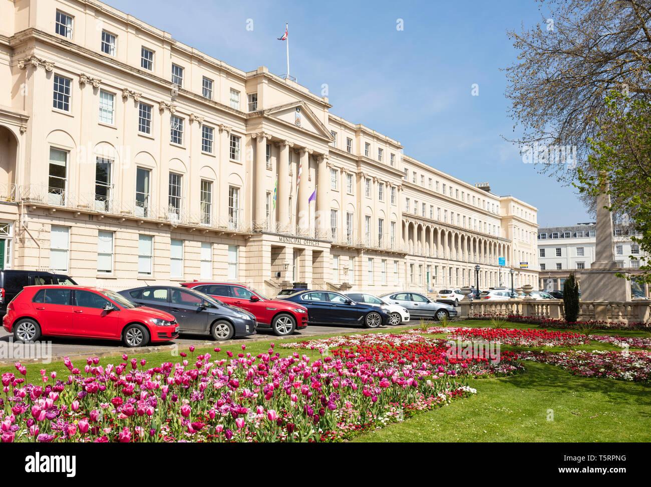 Cheltenham Borough Council Municipal Offices on The Promenade Cheltenham promenade Cheltenham Spa, Gloucestershire England UK GB Europe - Stock Image