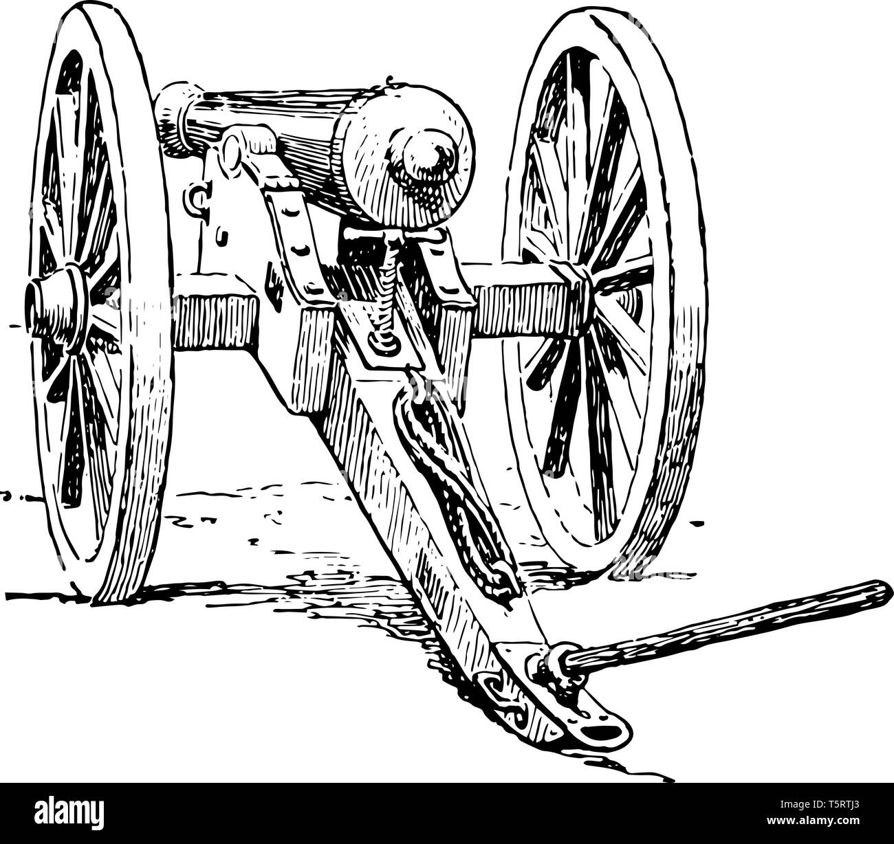 Cannon which is a movable canon on wheels, vintage line