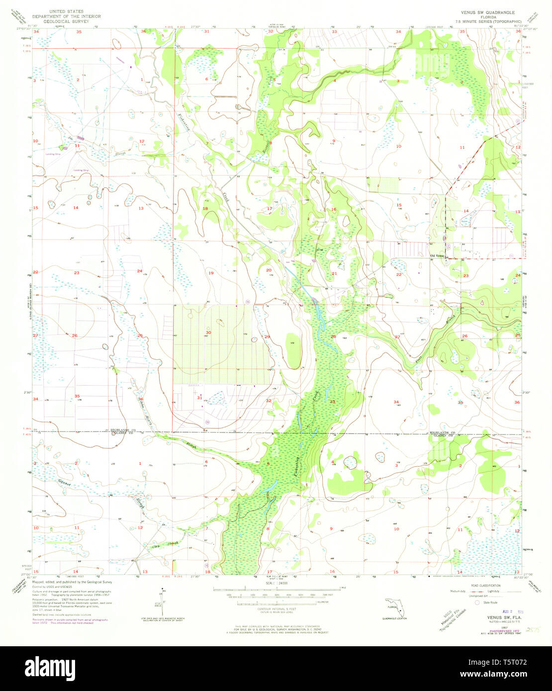 USGS TOPO Map Florida FL Venus SW 348938 1957 24000 ... Venus As A Map on terraformed moon map, earth as a map, earthsea map, mars elevation map, victoria as a map,
