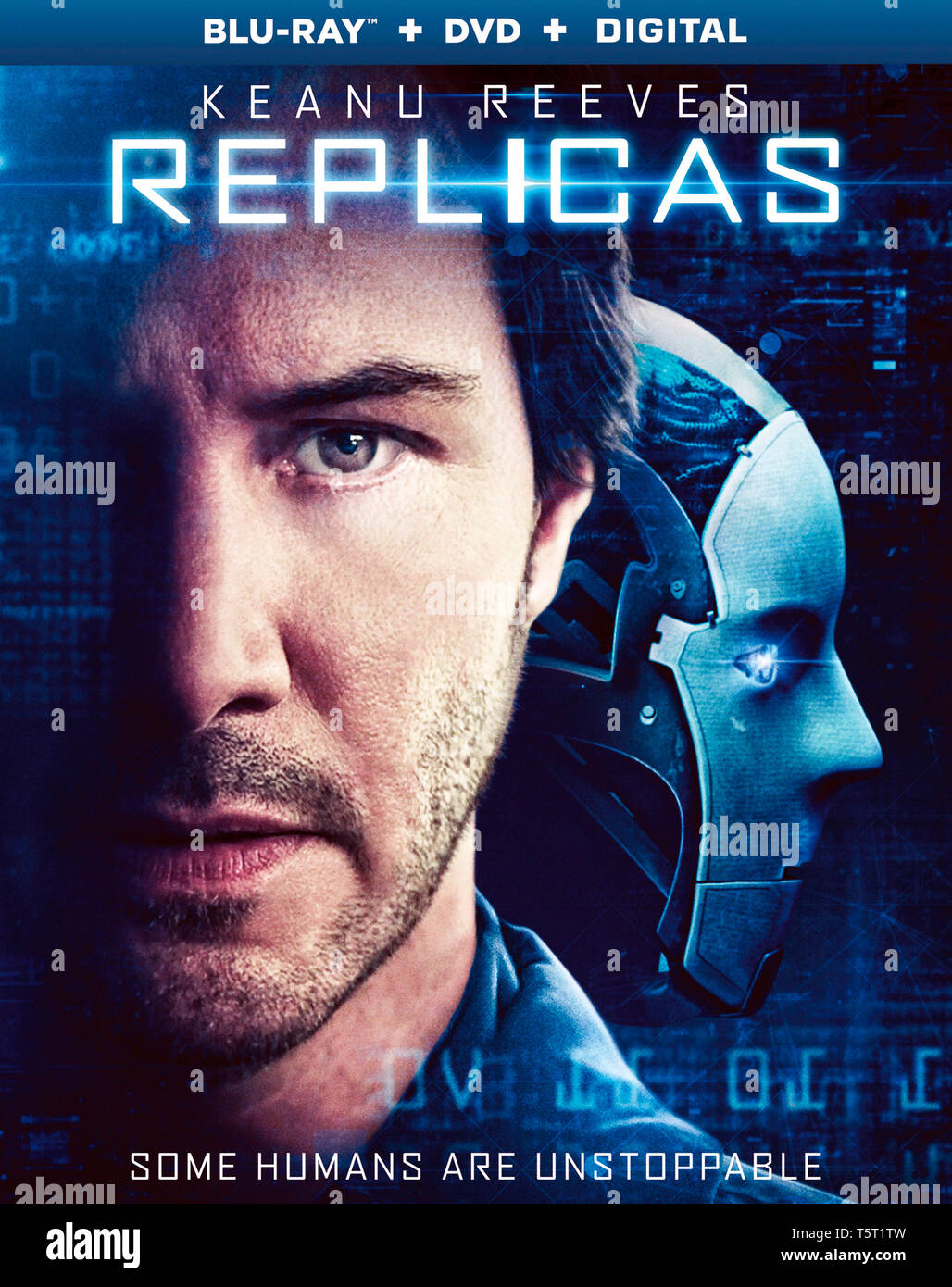 REPLICAS 2018 de Jeffrey Nachmanoff jaquette du Blu-ray americain Keanu Reeves. science fiction; sci-fi Prod DB © Company Films - Di Bonaventura Pictu - Stock Image